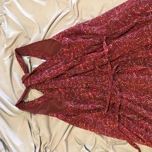 Converse Dresses - Red Floral Sundress